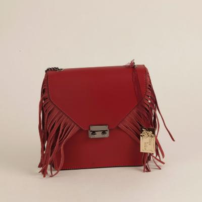 Angeli & Rebel's - sac à main cuir véritable - Amphirite rouge