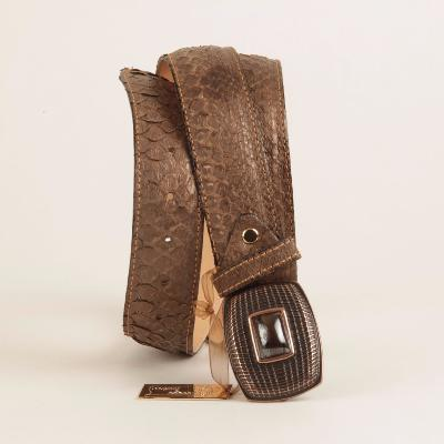 Angeli & Rebel's - ceinture en python marron