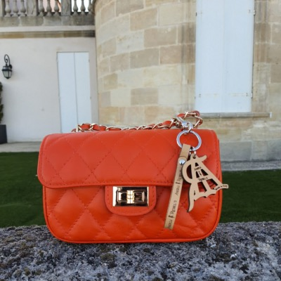 Angeli & Rebel's - sac à main cuir veritable - Artémis Orange