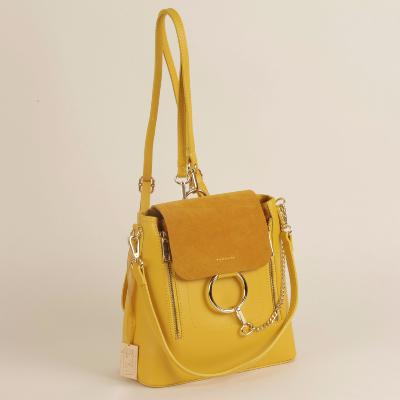Angeli & Rebel's - sac à main cuir véritable - Gabrielle - jaune