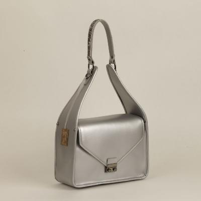 Angeli & Rebel's - sac à main cuir - Archangelo lamé argent