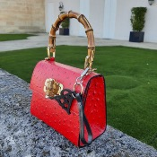 Angeli & Rebel's - sac en cuir - Lady A -Rouge