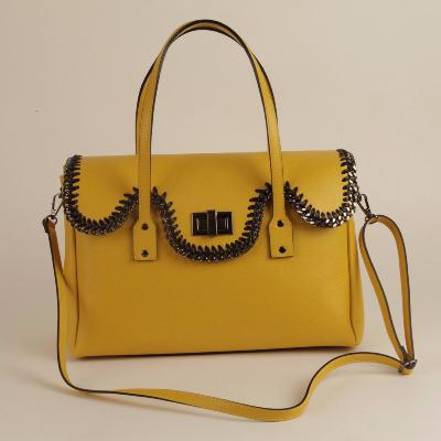 Angeli & Rebel's - sac à main cuir véritable - Anath - jaune